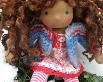 Ruby Jo - Sitting style Waldorf Inspired Doll , 7 inch