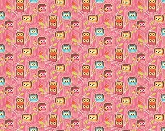 Happy Flappers Hideout Pink by Kelly Panacci for Riley Blake, 1/2 yard