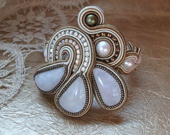 Soutache embroidered bracelet