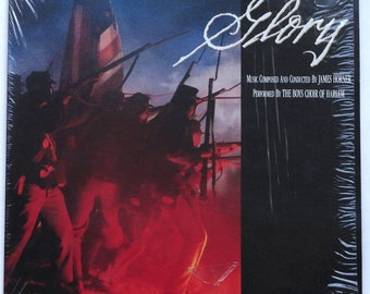 "Rare ""Glory"" Vinyl Soundtrack (1989) James Horner - Excellent Condition (In Shrink)"