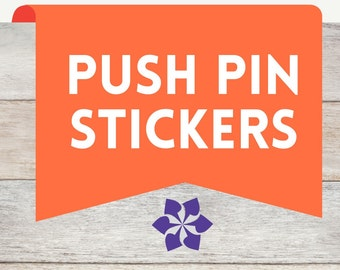 Push Pin Planner Stickers