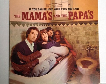 Mamas and the Papas RARE Toilet Cover LP If You Can Believe Your Eyes LP vinyl album