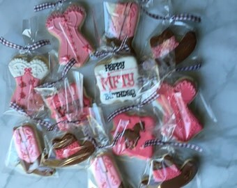 Western Cowgirl Lingerie Sugar Cookie Collection