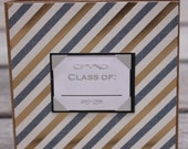Graduation mini notecards, Blue and Gold Foil, Class of 2016