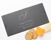 Personalized Cheese Board, Custom Engraved Slate, Monogram, Personalized Slate Board, Personalized Wedding Gift, Housewarming Gift D11