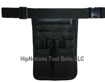 Waiter Waitress Server Bartender Black Cordura Nylon 17 pocket HipNotions Tool Belt