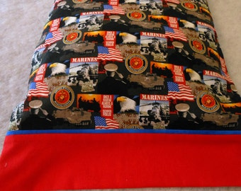 Pillow Case Marines on Steel Gray