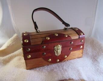1970s Wooden Box Purse