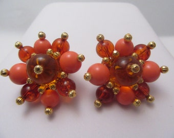Large Lucite Bead Earrings