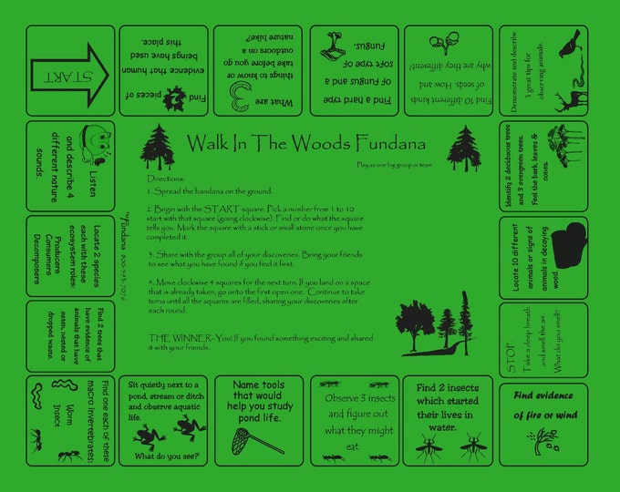 Fun Family, Scout Activity.Walk in the Woods Fundana Fun scavenger hunt Hiking, Family,  Scouting Activity, Educational Game about the woods