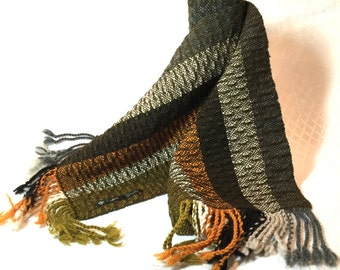 Handwoven scarf, 100% wool by TisseTriko