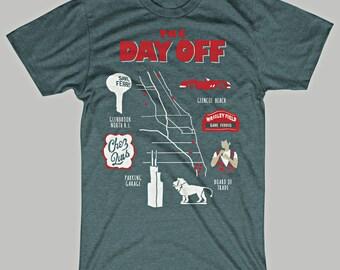 Ferris Bueller's Day Off Map T-Shirt