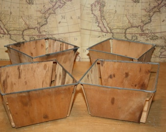Vintage Berry Containers - set of 4 - item 1322