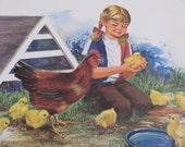 "Original Vintage School Classroom Poster Print - Circa 1965 - Easter - 9"" x 12"""
