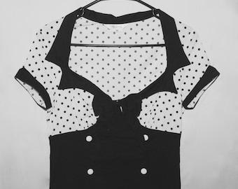 Women's Vintage Dress; Rockabilly, Psychobilly, Pin-up