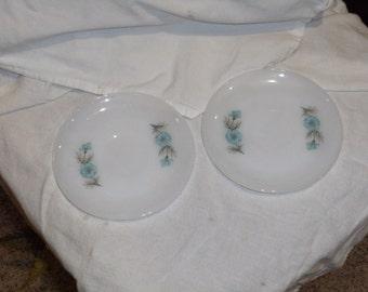 Vintage Fireking Blue Flower Saucers