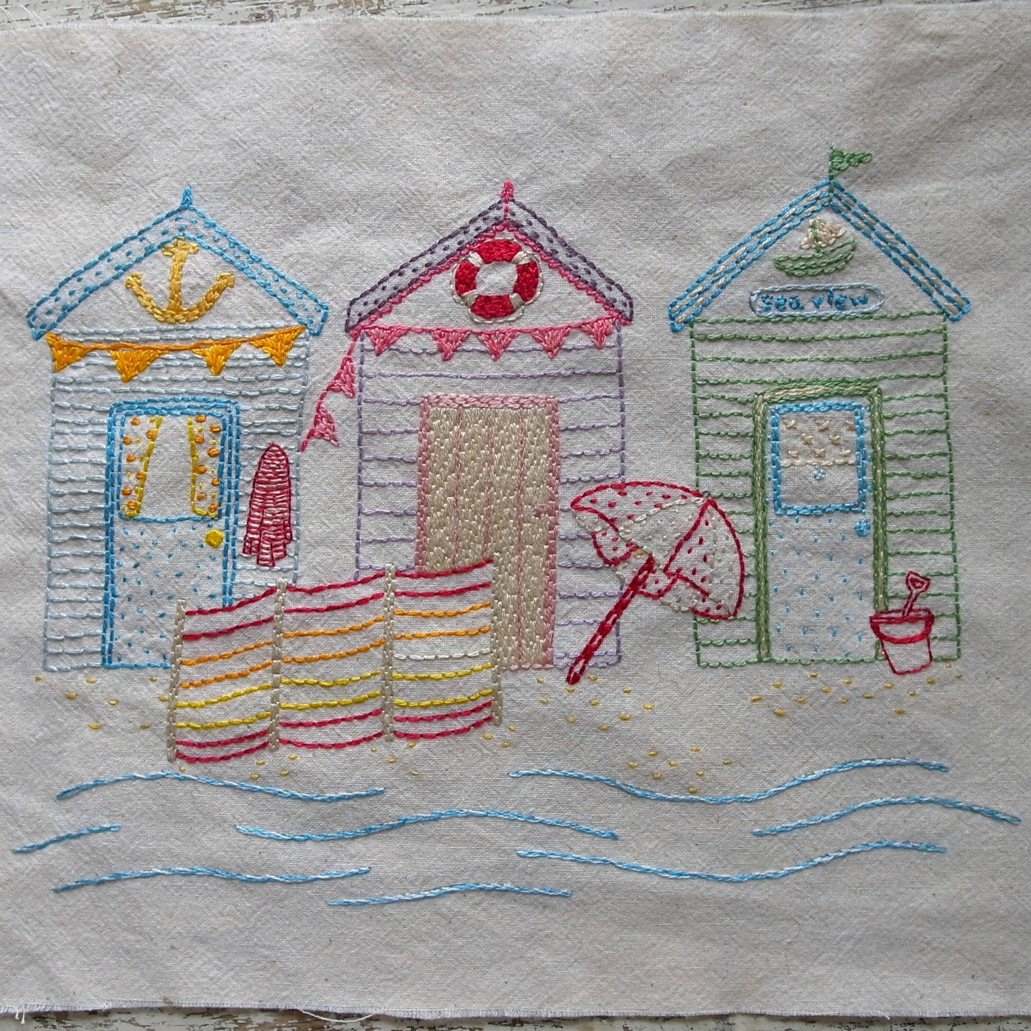 Beside the seaside embroidery pattern pdf from lilipopo on for Beach house embroidery design