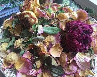 Organically Grown & Dried English Rose Vase Filler Potpourri