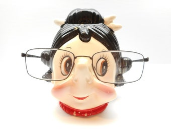 Vintage Lady Eyeglass Holder