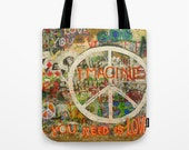 The Beatles Love Tote bag, John Lennon, Peace Sign, Imagine, All You Need is Love,