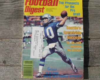football digest June 1978 pro draft issue 1970s football man cave collectible