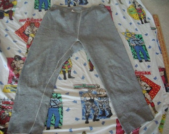 Vintage 70's Russell Athletic Gray Rocky Balboa style Gym Boxing Sweatpants XL
