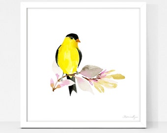 Art Print Yellow Finch 2