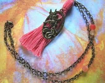 Fairy Tassel Necklace Faerie Pendant