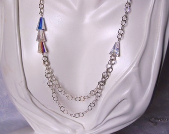 Jewelry Set Swarovski Artemis Bead Necklace and Earrings Holiday Jewelry