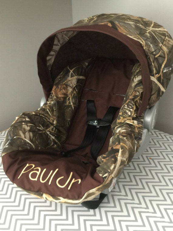 Max 5 Advantage Camo Fabric With Brown Baby Infant Car Seat
