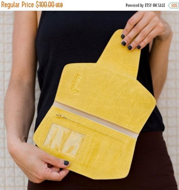 Yellow Leather Wallet women, women Leather Wallet, minimalist wallet, yellow wallet purse, womens wallets, women leather wallet