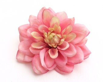 Artificial Pink Dahlia  - 4.5 Inches - Artificial Flowers, Silk Flowers, Wedding Flowers
