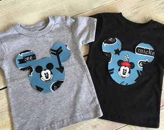 Mickey and Minnie Mouse Inspired Iron On Applique DIY Infant, Toddler, Kids, Adult
