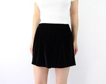 VINTAGE Black Velvet Shorts