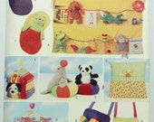 Butterick 5507 Beanie Babies Bean Bag Animal Accessories Dog House Carrier Wall Organizer Sleeping Bag Tent  Crafts Uncut Sewing Pattern