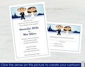 Winter Wedding Invitations and RSVP Cards – Set of 10 - Create a Cartoon You!