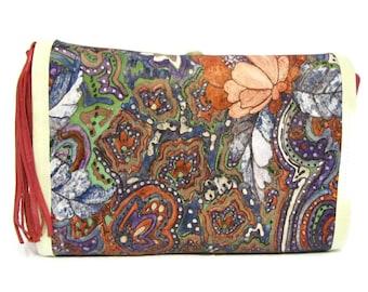 Leather Makeup Bag / Leather Cosmetic Bag / Gift for Her / Large Cosmetic Bag / Leather Make Up Bag / Leather Cosmetics Bag / Brush Holder