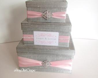 Wedding Gift Card Box, Money Box, Envelope Holder, Reception Card box, Silver Card Box, Envelope Box, Card Holder, Box for Cards, Custom