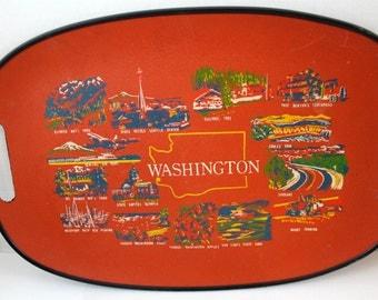 Vintage Washington souvenir tray home wall decor