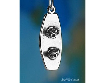 Sterling Silver Wakeboard Charm Wakeboarding Water Board 3D Solid .925