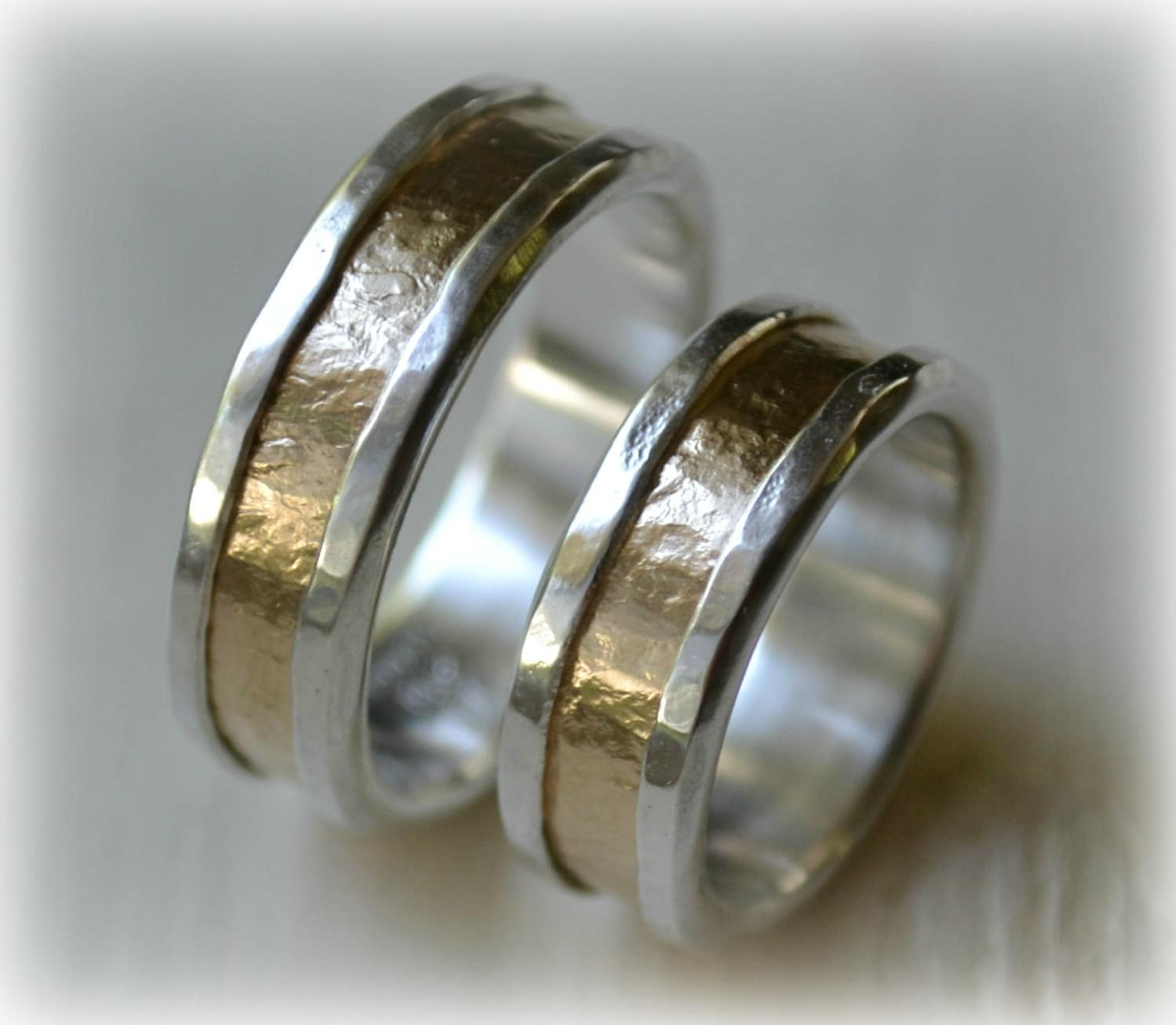 his and hers wedding bands artisan designed handmade