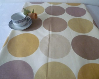 "Modern Spotty Table Runner Retro Funky Brown Amber Cotton 24"" wide x 54"" long"