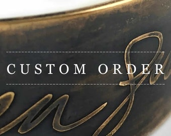 Custom order for Ginny : It's My Life, Your Life Bracelet