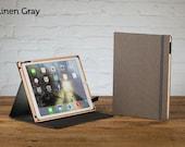 The Contega Linen iPad Pro 9.7 Case - Linen Gray