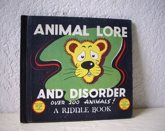 Book: Animal Lore and Disorder, Unusual collectible book.
