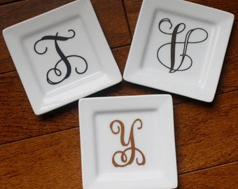 PERSONALIZED Jewelry Dish, Ring Holder, Trinket Holder, Coasters