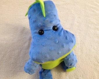 Blue dinosaur - stuffed animal