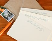 Almost Proper Conversation Cards (whimsical small talk in 6 letterpress printed notecards & envelopes)