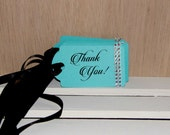 Turquoise Blue Thank You Gift Tags Set of 12