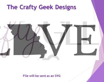Missouri Love SVG File